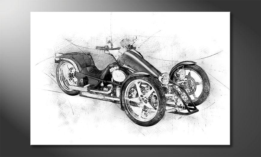 Fine-Art print Motorcycle Five