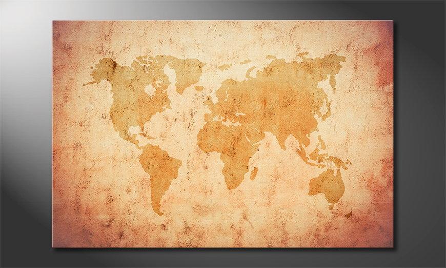 Fine-Art print Old Worldmap