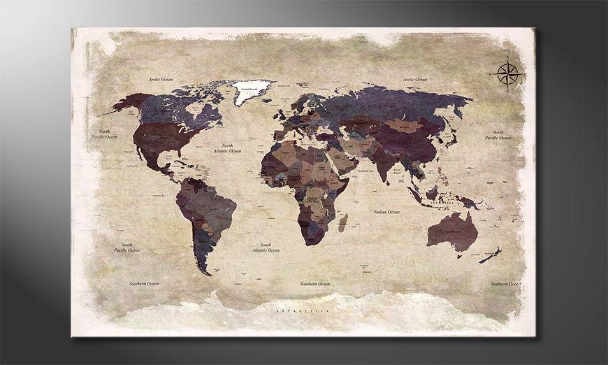 Fine-Art print Old Worldmap 3