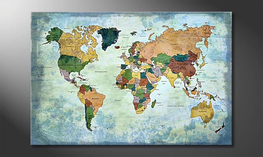 Fine-Art print Oldworldmap one