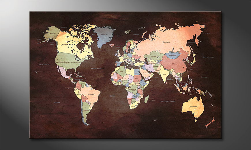 Fine-Art print Oldworldmap two