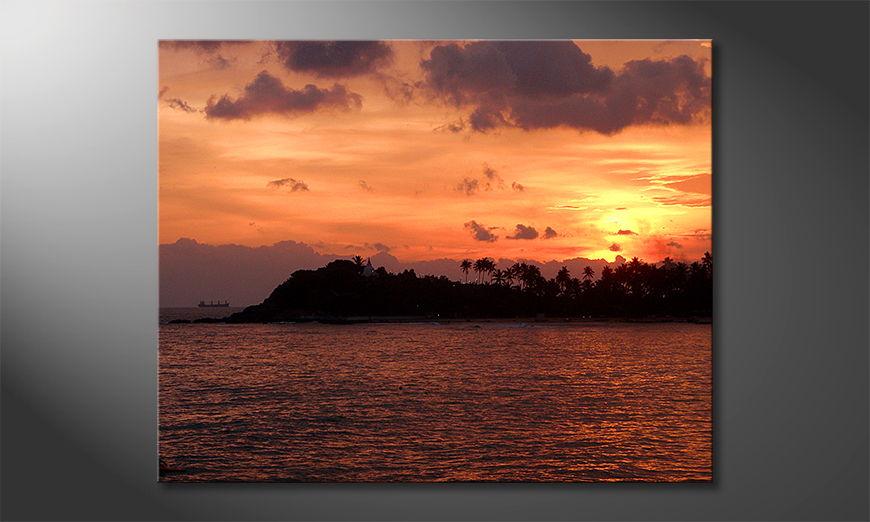 Fine-Art print Sri Lanka Sundown 100x80 cm