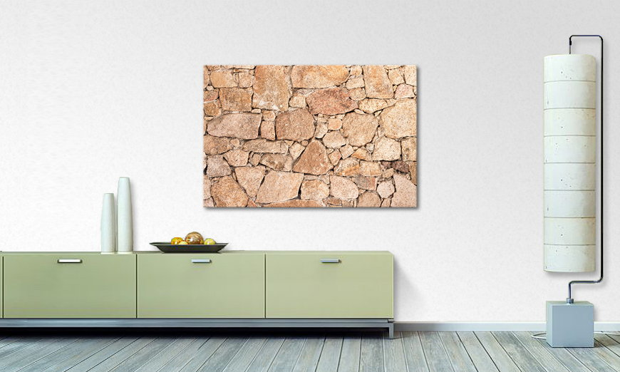 Fine Art print Wall of Stones