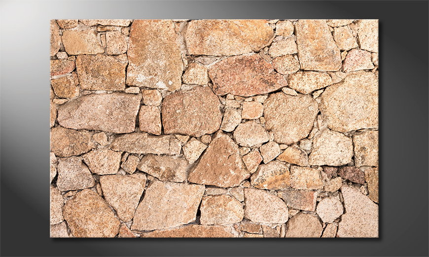 Fine-Art print Wall of Stones