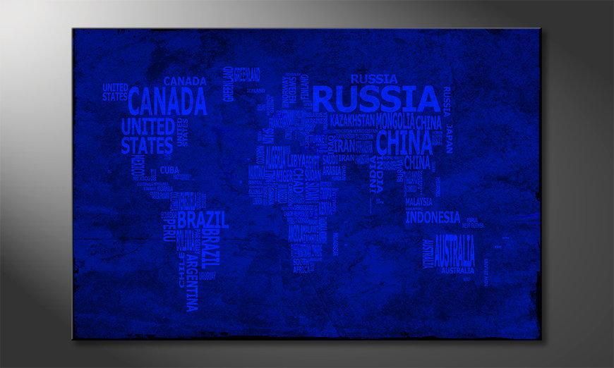 Fine-Art print Wereldkaart 10