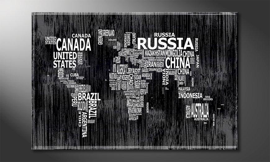 Fine-Art print Wereldkaart 13