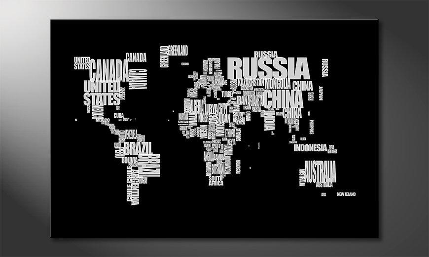 Fine-Art print Wereldkaart 14