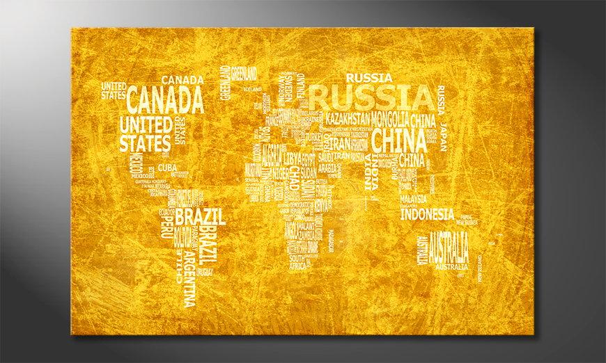 Fine-Art print Wereldkaart 15