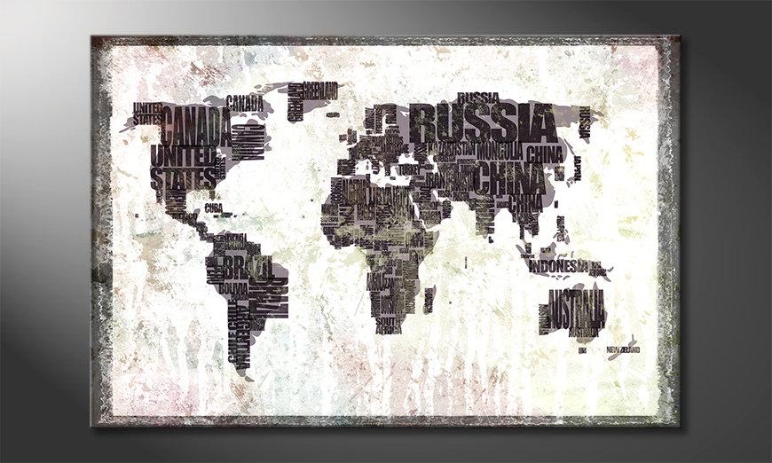 Fine-Art print Wereldkaart 17