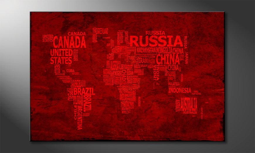 Fine-Art print Wereldkaart 18