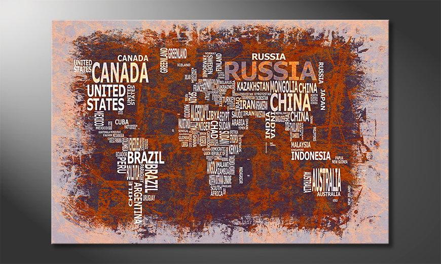 Fine-Art print Wereldkaart 19