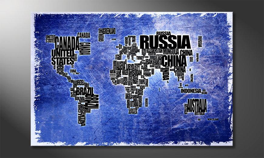 Fine-Art print Wereldkaart 2