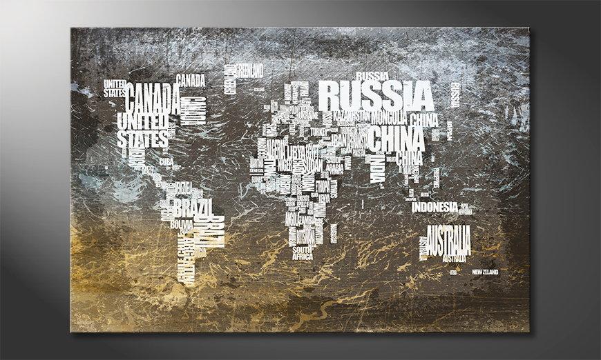 Fine-Art print Wereldkaart 20