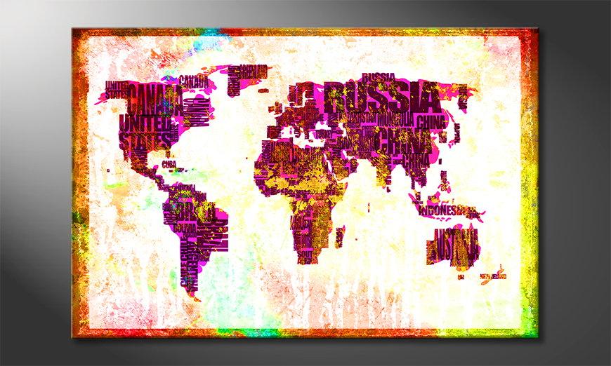 Fine-Art print Wereldkaart 3