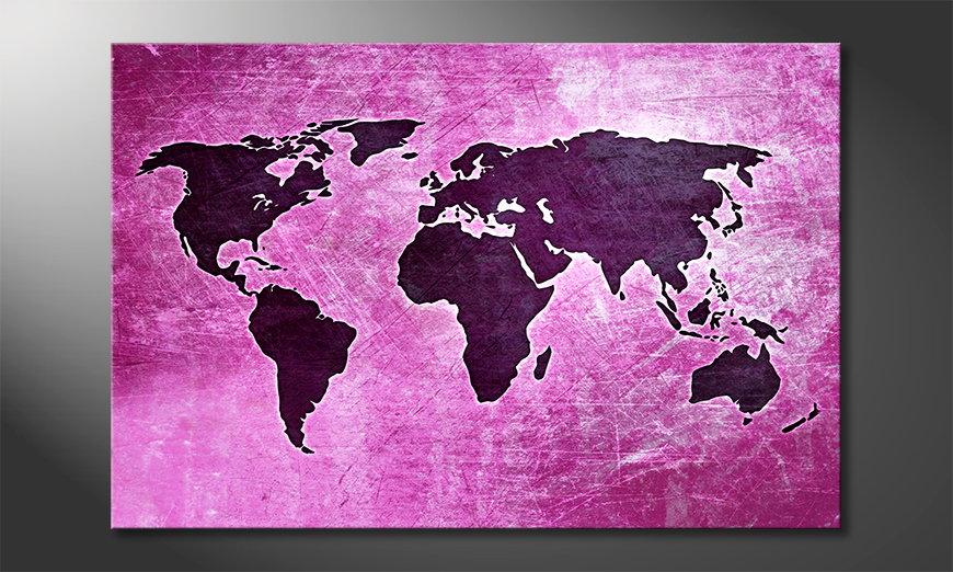 Fine-Art print Wereldkaart 4