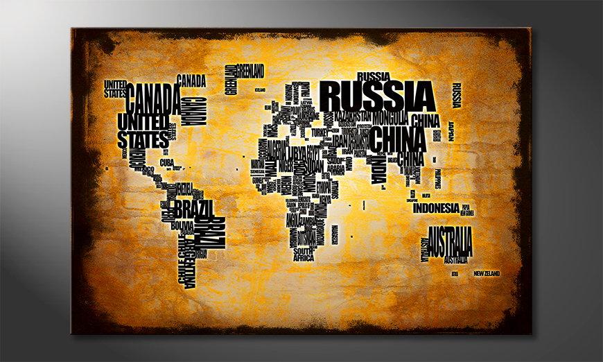 Fine-Art print Wereldkaart 5