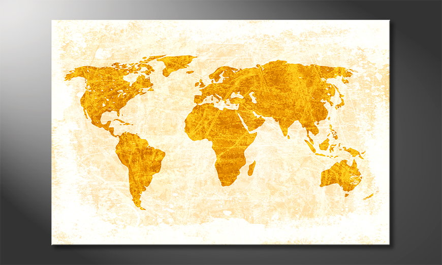 Fine-Art print Wereldkaart 7