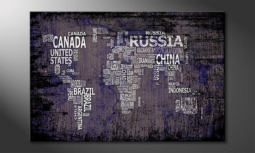 Fine-Art print Wereldkaart 9