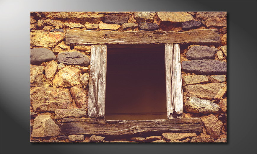 Fine-Art print Wooden Window
