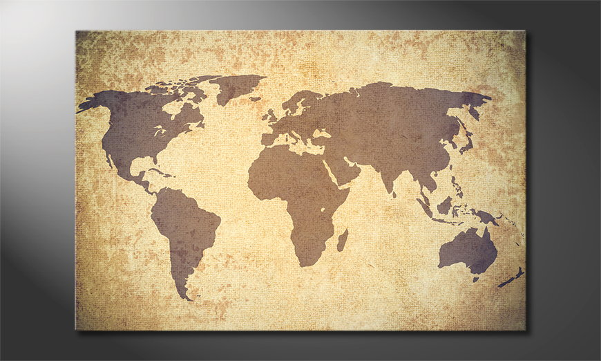 Fine-Art-print-Worldmap-Vintage