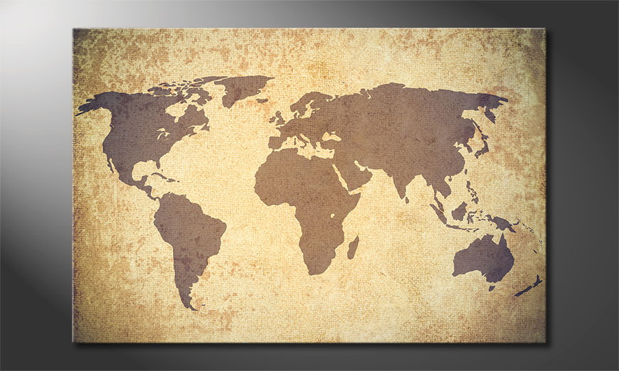 Fine-Art print Worldmap Vintage