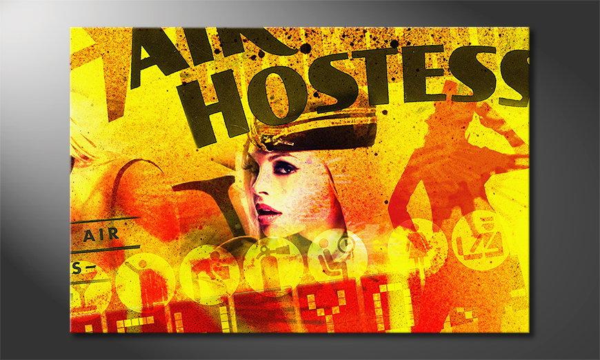 Het abstracte print Air Hostess