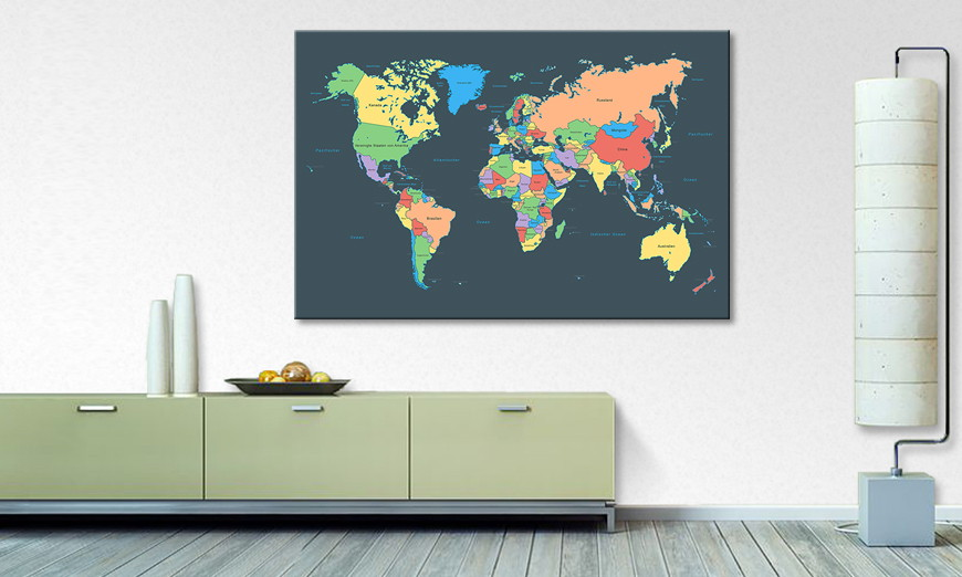 Het abstracte print Colorful Map