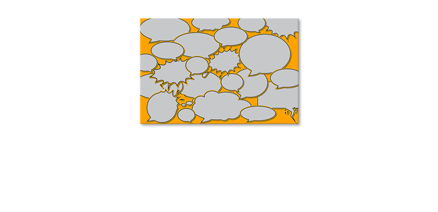 Het-abstracte-print-Speech-Bubbles