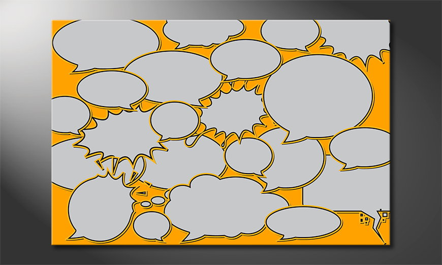 Het abstracte print Speech Bubbles