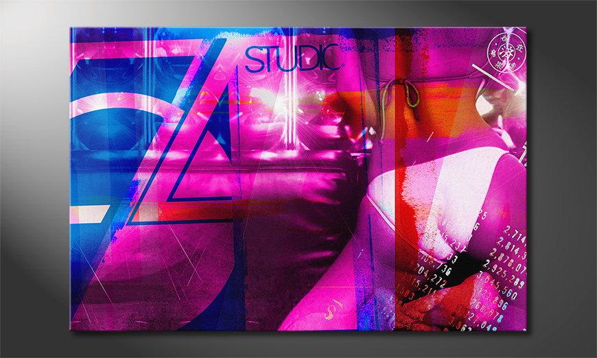 Het abstracte print Studio 54
