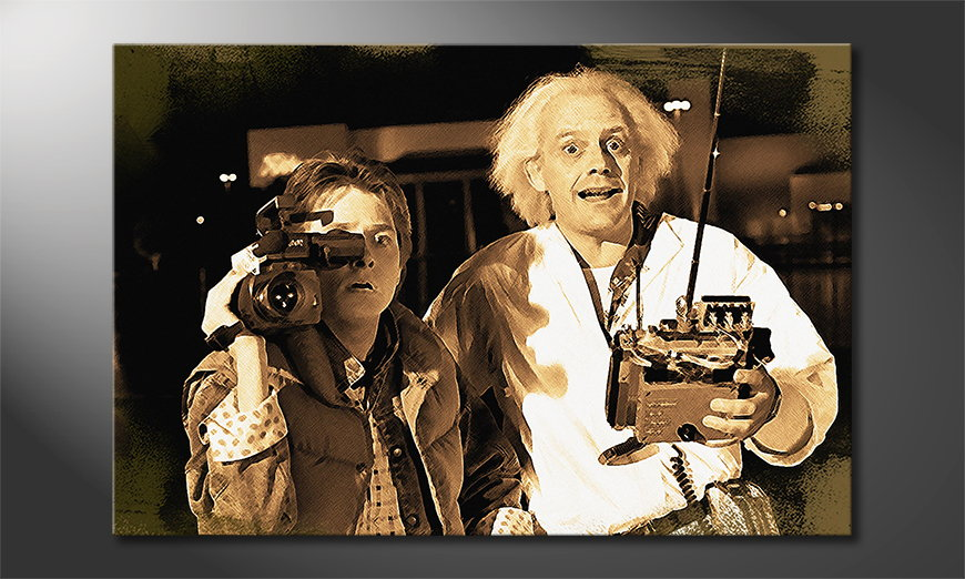 Het beeld Back to the Future Moment