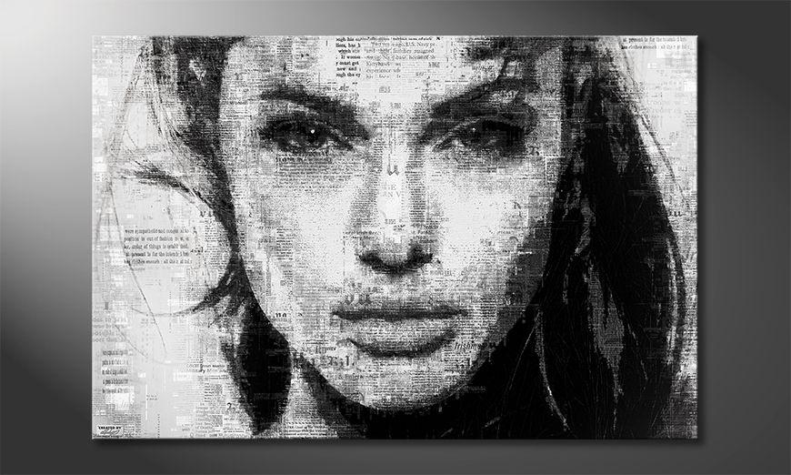 Het foto canvas Angelina