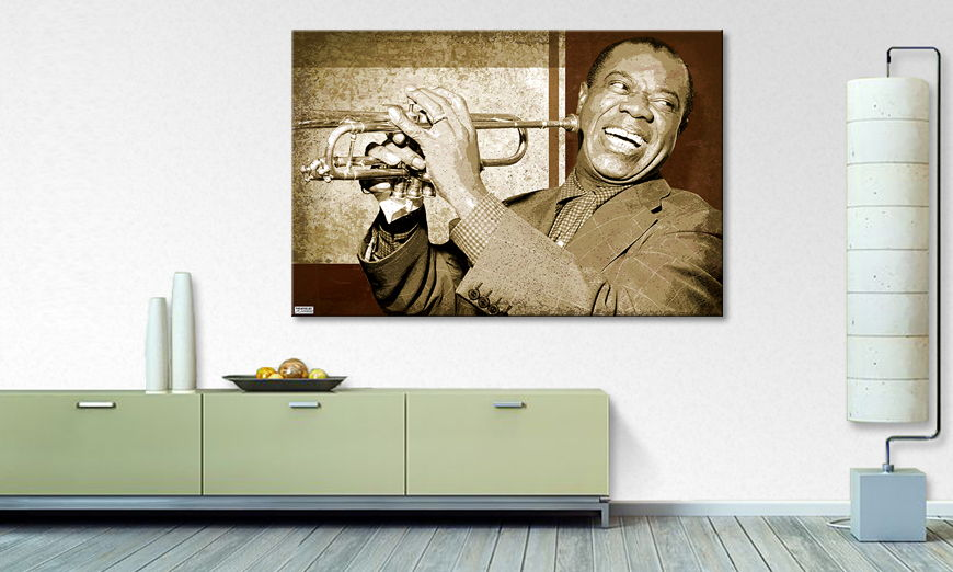 Het foto canvas Armstrong