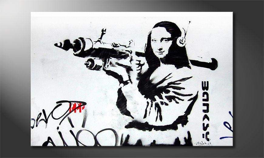 Het foto canvas Banksy No1