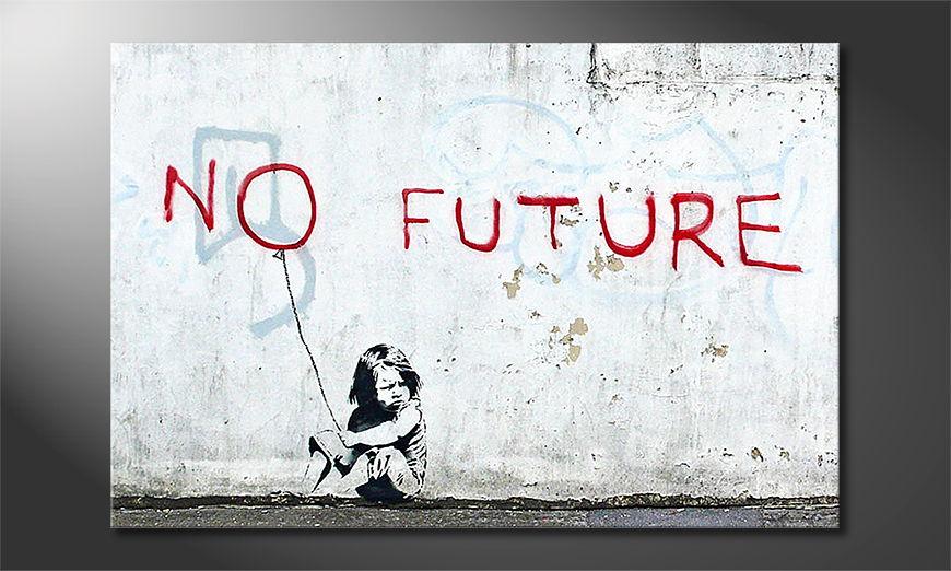Het foto canvas Banksy No10