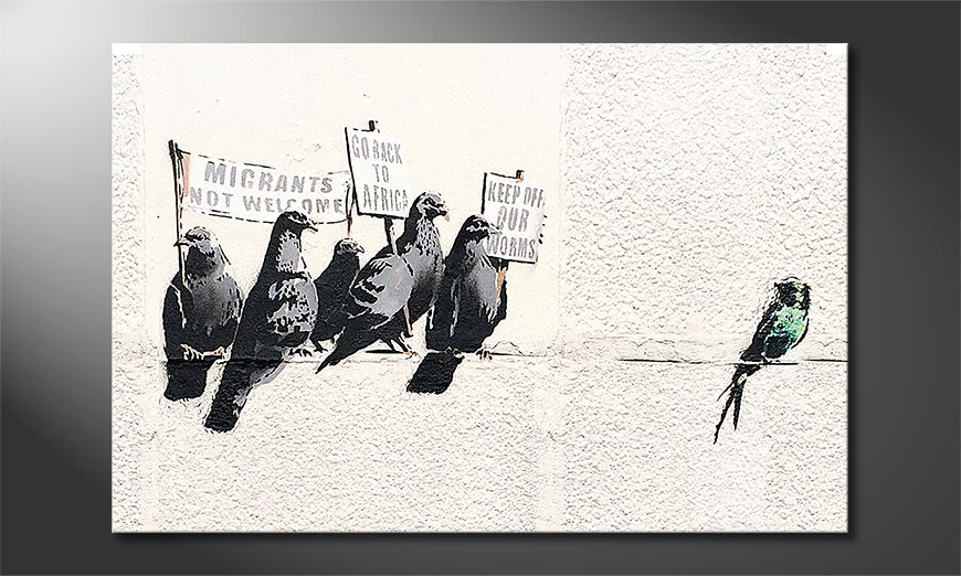 Het foto canvas Banksy No11