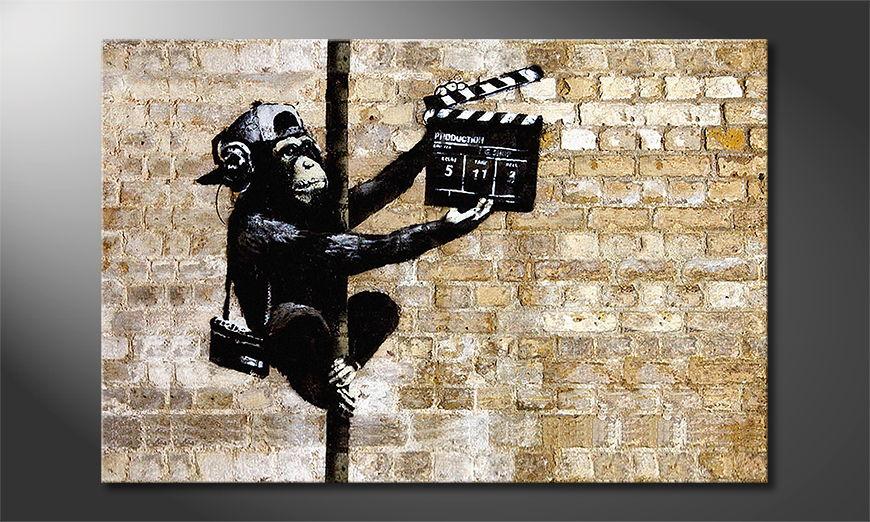 Het foto canvas Banksy No13