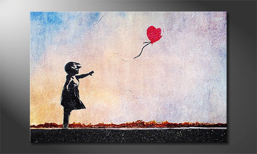Het foto canvas Banksy No14