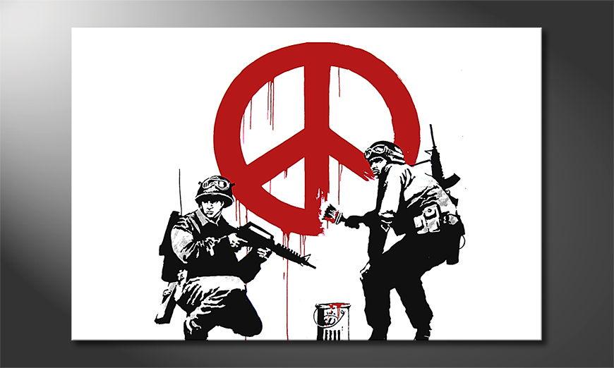 Het foto canvas Banksy No15