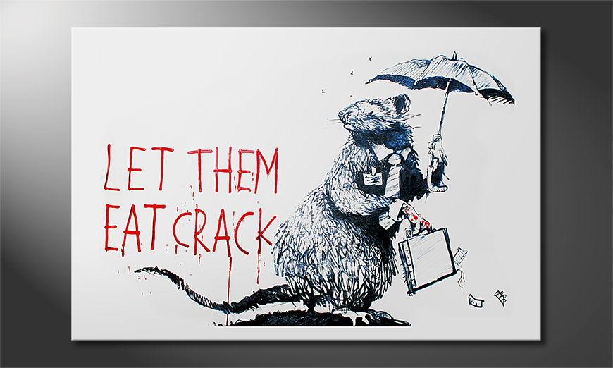 Het foto canvas Banksy No16