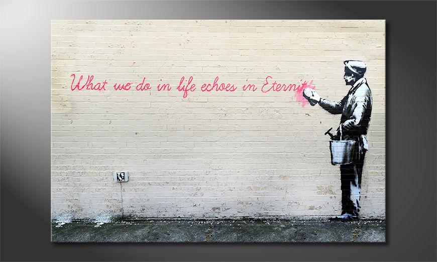 Het foto canvas Banksy No17