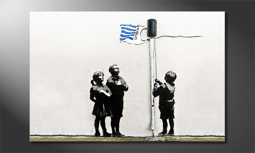 Het foto canvas Banksy No18