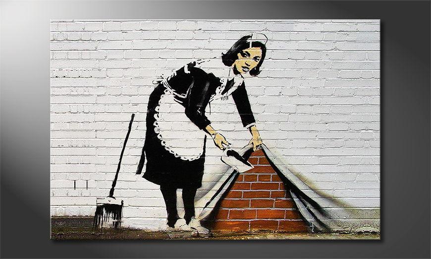 Het foto canvas Banksy No19