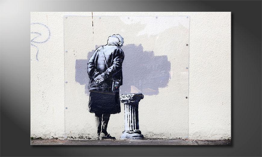 Het foto canvas Banksy No2