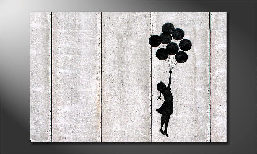 Het foto canvas Banksy No3