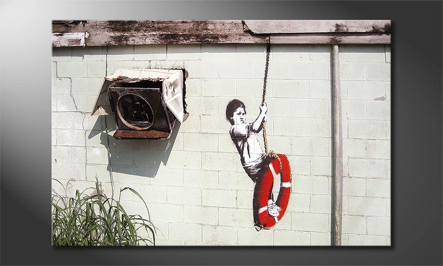 Het foto canvas Banksy No4