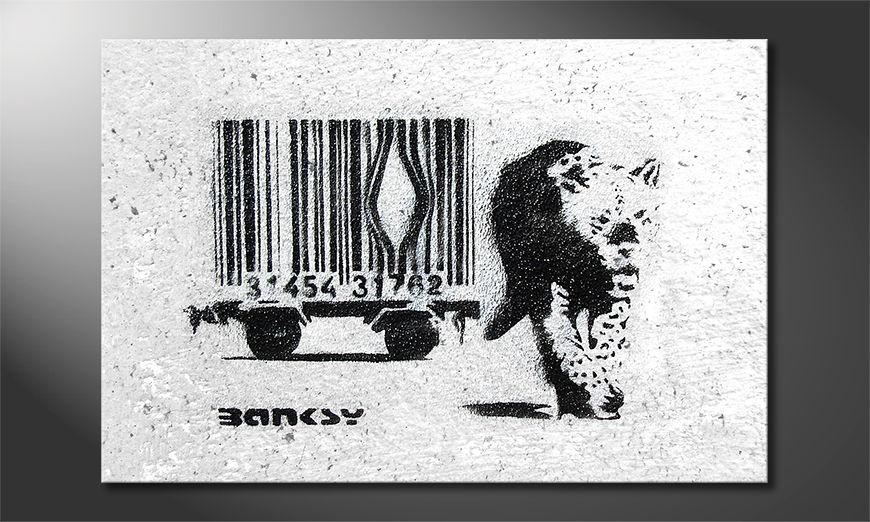 Het foto canvas Banksy No5