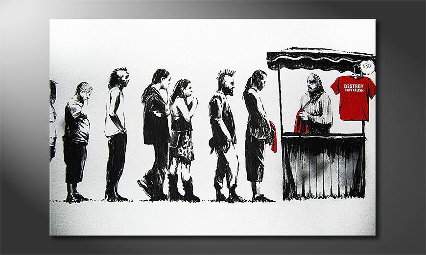 Het foto canvas Banksy No6