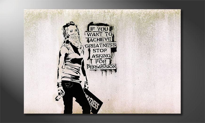 Het foto canvas Banksy No7