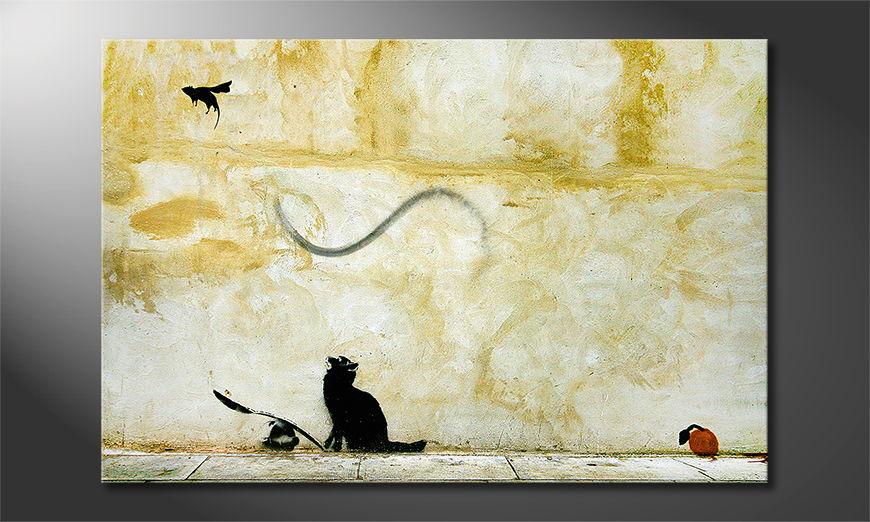 Het foto canvas Banksy No8